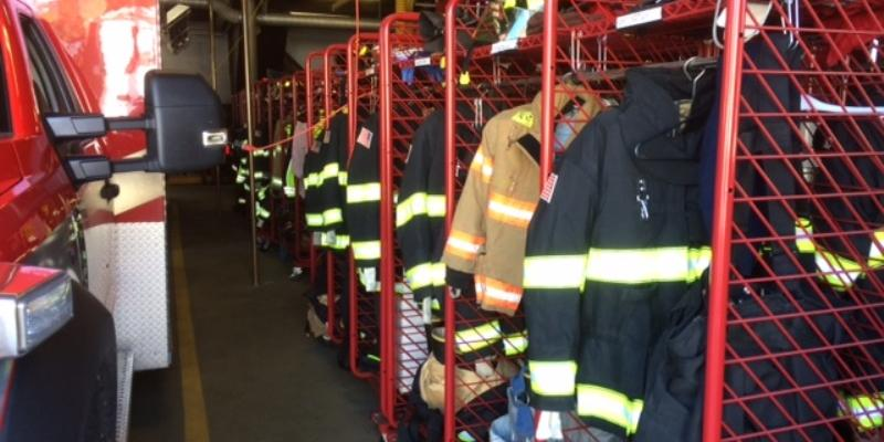 Fire Equipment in Central Station Garage